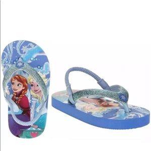 Disney frozen flip flops Toddler girl size 5/6